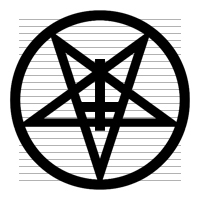 Satanic Pentagram With Upside Down Cross Clipart