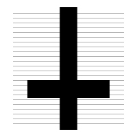 Upside Down Cross Clipart
