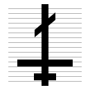 Upside Down Orthodox Cross Clipart